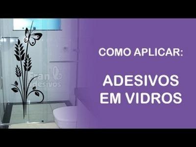 Fran Adesivos - Como aplicar adesivo decorativo em portas, janelas e box