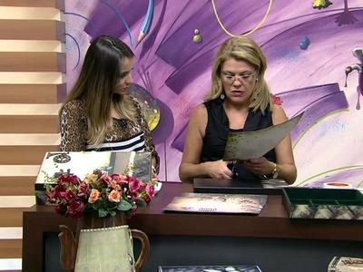 Mulher.com 17.03.2015 DOLORES MACAGNANI CAIXA MDF APLICACAO DE RENDA Parte 2