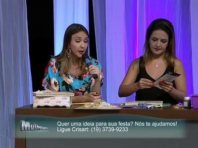 Mulher.com 23.01.2015 - Caixa com scrap decor por Marisa Magalhães - Parte 2