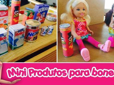 Produtos e Acessórios em miniatura para bonecas Barbie & Monster High