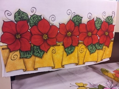 Programa Arte Brasil - 23.11.2015 - Márcia Caires - Pano de Copa com Barrado Flores Natalinas
