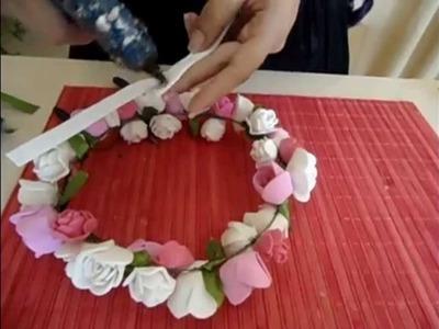 Tutorial Coroa de flores em EVA