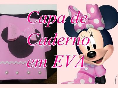 Caderno personalizado em EVA da Minnie
