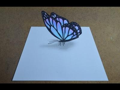 Como desenhar uma Borboleta com Efeito 3D Simples