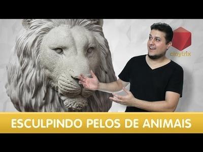 Como esculpir pelos de animais | Claytrix
