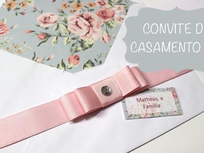 Como Fazer Convite de Casamento Envelope Estampado, Tag e Laço Chanel - Faça Você Mesmo - DIY