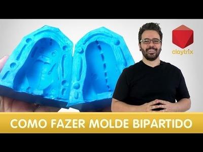Como fazer um molde bipartido em silicone | Claytrix