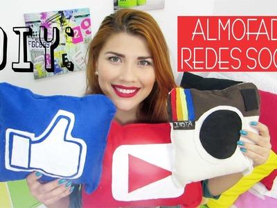 ✄ DIY: Almofadas Redes Sociais |  DIY Pillows Social Networks | Iryane Carollyne