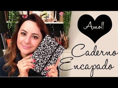 DIY: CADERNO ENCAPADO COM TECIDO , por Camila Camargo