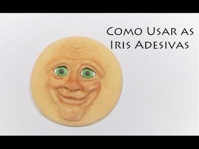 DIY Como fazer olhos Realista usando adesivo Viviana Biscuit olho de boneco