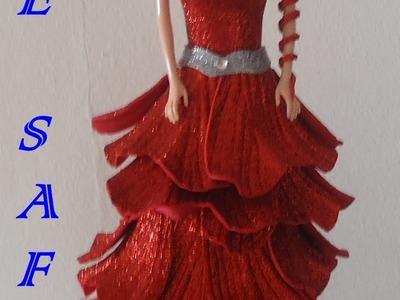 Montar roupa de e.v.a em boneca barbie 1º parte