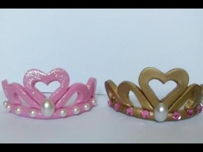 Pap coroa de princesa em biscuit