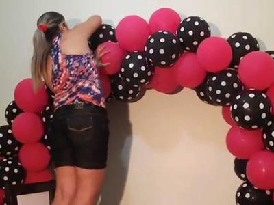 Arco de balões com 2 cores - Balloon arch with two colors