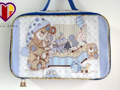 Bolsa.mala Infantil de tecido Thomas - Maria Adna Ateliê - Cursos.aulas de bolsas e malas infantis