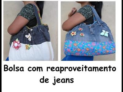 Bolsa reaproveitando jeans passo a passo