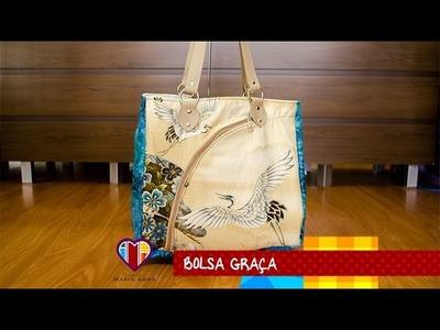 Bolsa sacola de tecido Graça - Maria Adna Ateliê - Cursos e aulas de bolsas de tecido e couro