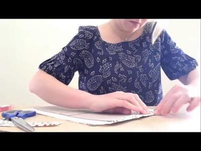 Capa para a Bíblia em cartonagem e tecido