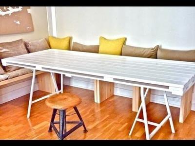 Como fazer uma mesa de jantar reciclando palete de madeira