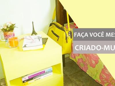 CRIADO-MUDO COM ABERTURAS NAS LATERAIS - DIY
