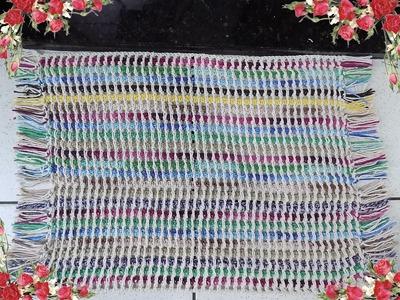 Croche-Tapete Indiano (Redinha)-Passo A Passo-Tutorial Completo