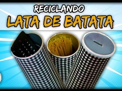 DIYminuto: Decorando com Lata de Batata - 3 Ideias