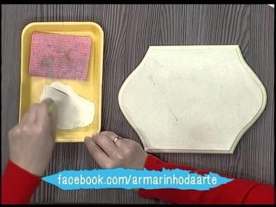 Pátina com esponja e stencil 3D