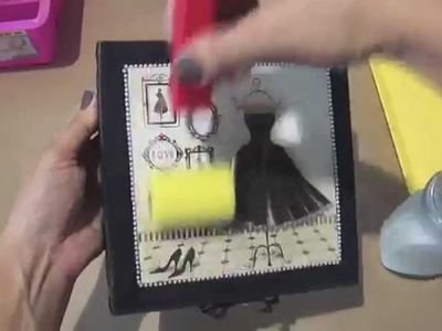 Video-Aula: Caixa com carimbo de renda | Livia Fiorelli | LifeArtesanato