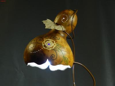 Abajur de Cabaça + LED (exótico) Gourd Lamps