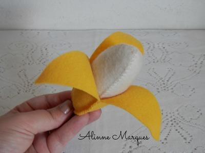 Banana 3D em feltro