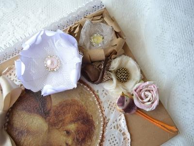 Como fazer flores vintage de papel
