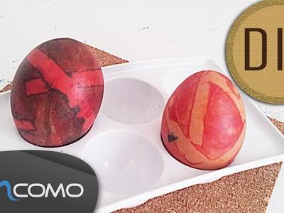 Decorar Ovo da Páscoa com Fita Adesiva - Trabalho Manual