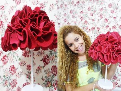 Decore você mesma abajur buque de rosas |Fábia Oliveira