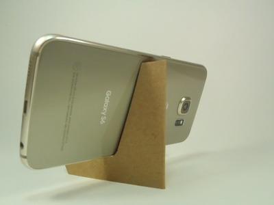 Suporte para Celular ou Tablet, feito com papelão