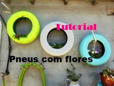 Tutorial - pneus com flores