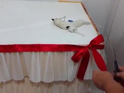 Aula 47 - Como fazer uma saia de mesa de papel crepom para festas (Artesanato)