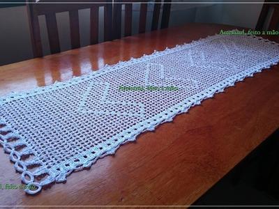 Caminho de mesa em croche parte 2