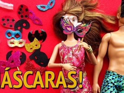 Como fazer Máscara de Carnaval para Barbie e outras Bonecas!