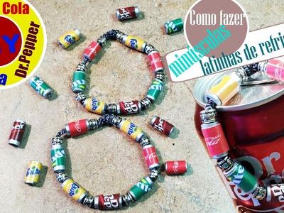 Como Fazer Minúsculas Latinhas De Refrigerantes- Coca, Fanta, Sprite e Dr Pepper