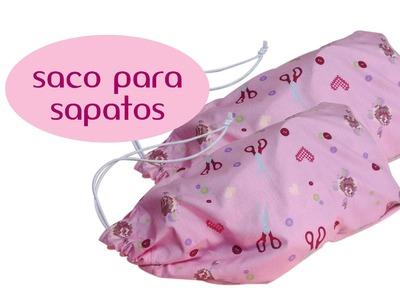 Como fazer saco para sapatos
