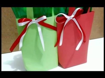 Como fazer Sacolas lindas (especial de Natal)