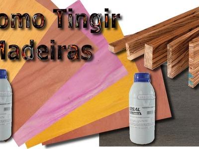 Como tingir madeiras - método direto