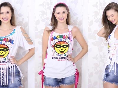 DIY - Customizando camisetas para carnaval - Abadás