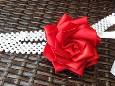Faça você mesma: Rosa Grande de fita de cetim - Passo a Passo - Ribbon Flower