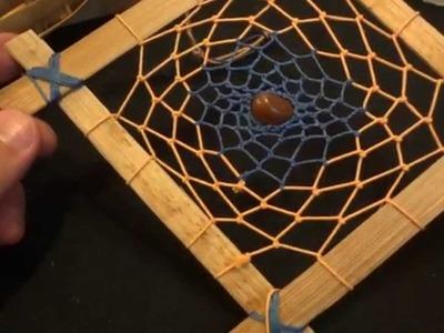 Filtro dos sonhos quadrado com bambu # reciclagem