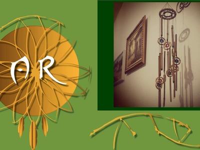 Mensageiro do vento de bambu e filtro