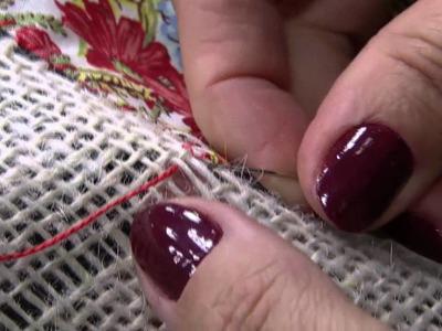 Mulher.com 30.07.2014 - Toalha de Retalhos na Juta por Claudia Niero - Parte 2