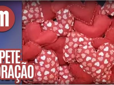 Mulheres - Artesanato: Tapete de coração (19.01.16)
