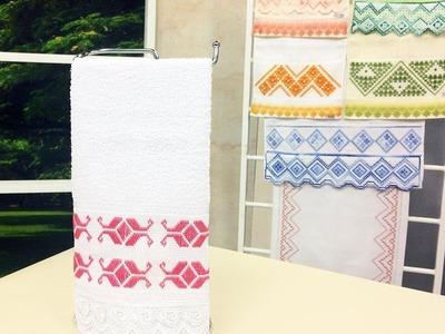 Programa Arte Brasil - 03.02.2015 - Leila Jacob - Toalha de lavabo com Ponto Reto e Variações
