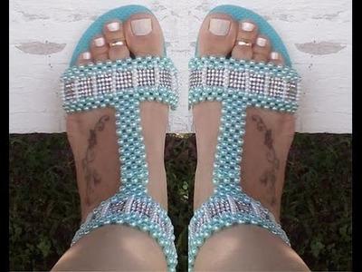 Sandália de perolas, simples, linda mas Estilosa,(FINAL) por Maguida Silva
