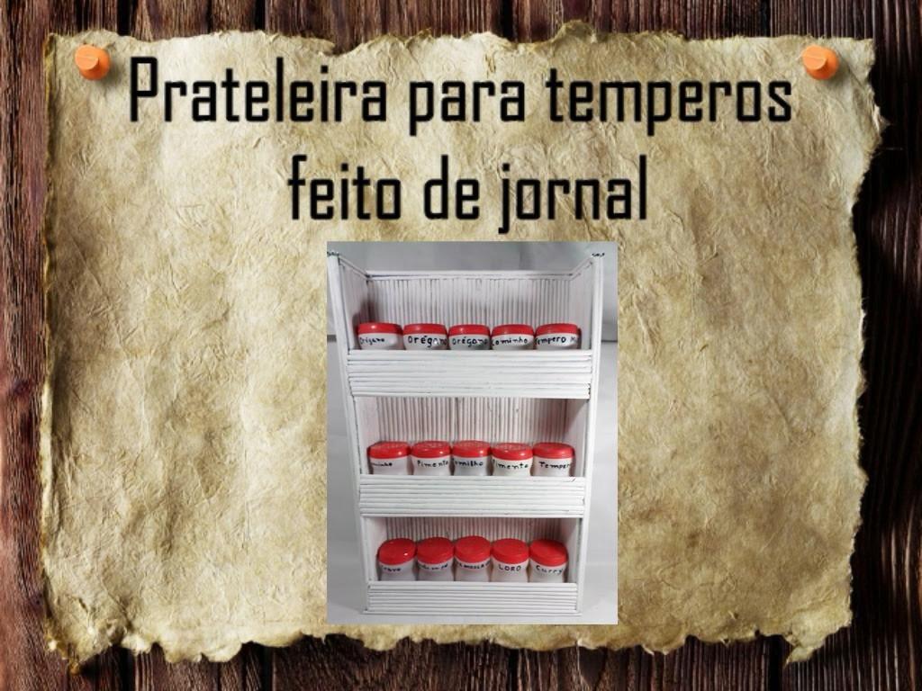 15 - Artesanatos e Reciclagem DIY - Prateleira para temperos - shelf for spice